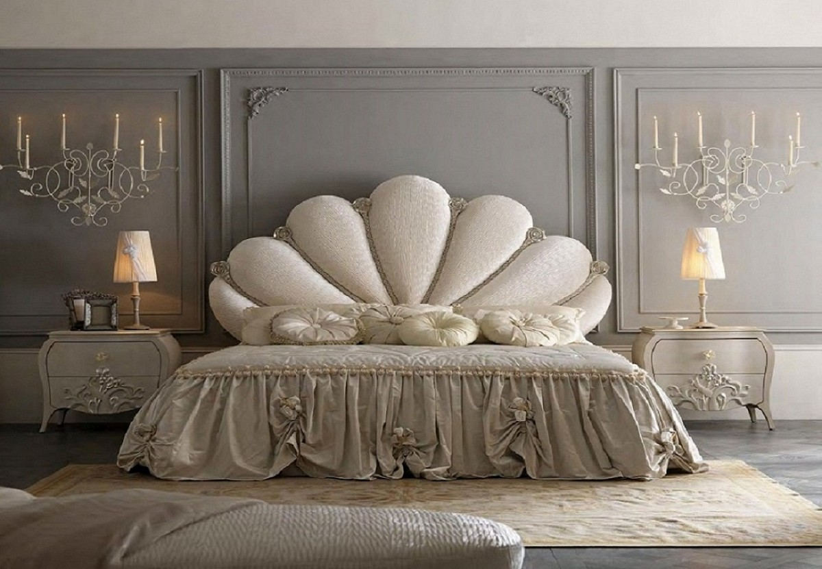 Luxury italian bedroom furniture | Classic bedroom San Marino | Bed upholstery price
