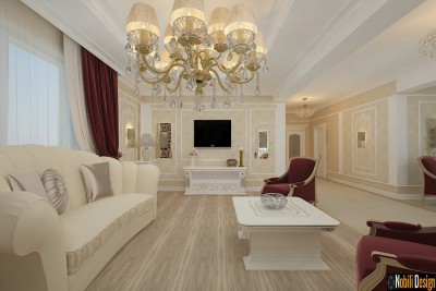 Interior design for the classic luxury home in Rome