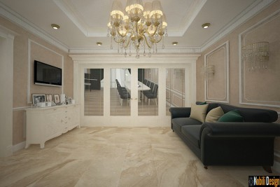Classic luxurious home interior design concept