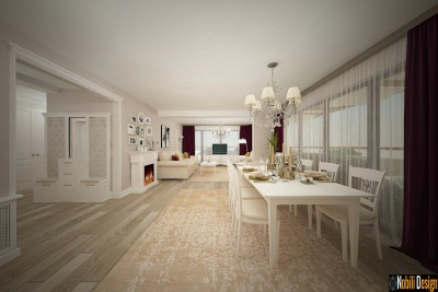 Modern classic house interior design