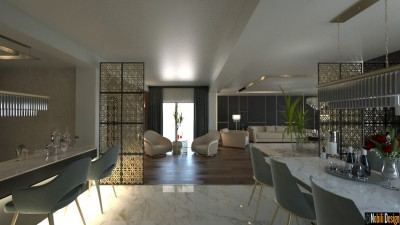Opulent interior design project for a modern house