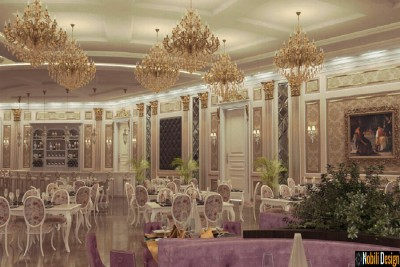 Interior design for a classic luxury restaurant