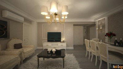 Classic interior design apartment project in Monaco