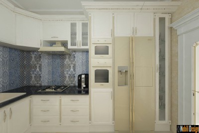 Kitchen interior design | Luxury classic interior design.