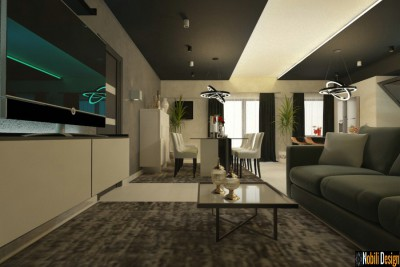 Interior design concept for a modern apartment in Monaco