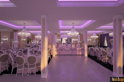 Interior design project wedding restaurant in Monaco