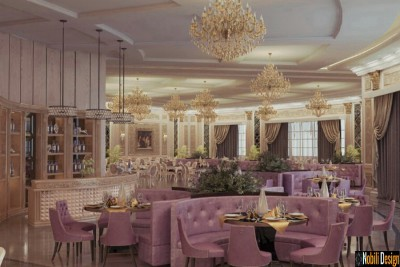 Interior design classic restaurant in Monaco