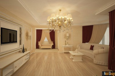 Glamourous hotel interior design project