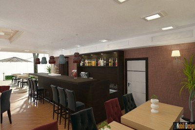 Bar and restaurant interior design concept