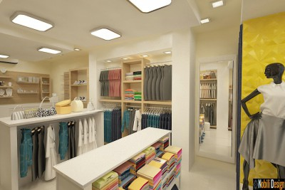 Interior design concept for a clothes shop in Paris