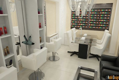 Interior design beauty salon project in Marseille