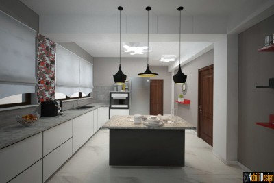 Modern home interior design concept in London