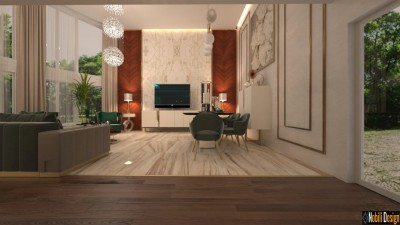 Interior design concept for modern luxury home