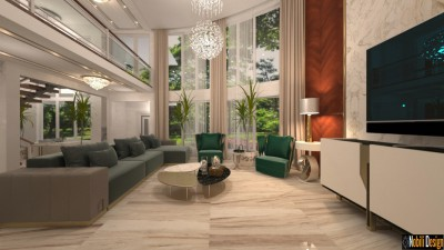 Interior design concept for modern luxury home in London