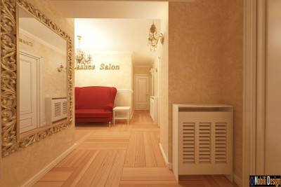 Modern beauty salon interior design in London