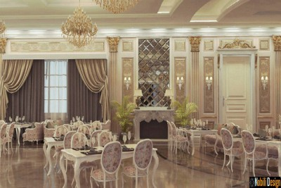 Interior design for a classic luxury restaurant in London