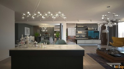 Modern house interior design concept in London