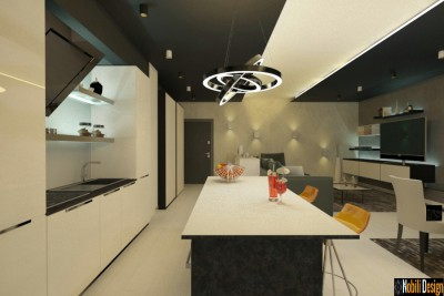 Interior design concept modern apartment in Manchester