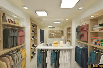 Interior design concept for a clothes shop in Liverpool