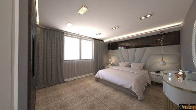 Modern hotel room interior design