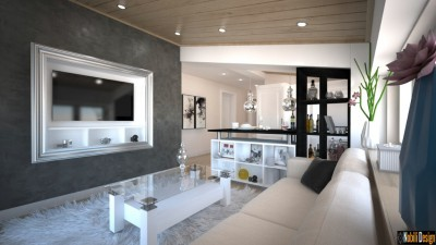 Appartamento mansardato di interior design