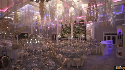 Wedding restaurant interior design Rome Italy