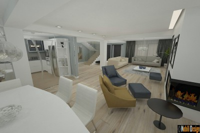 Modern interior design upstairs house