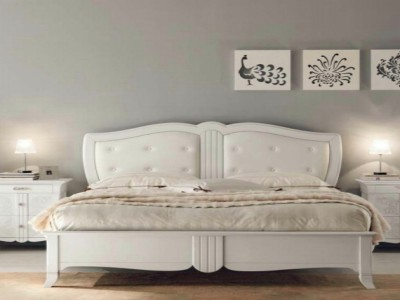 New Deco upholstered classic beds made of wood